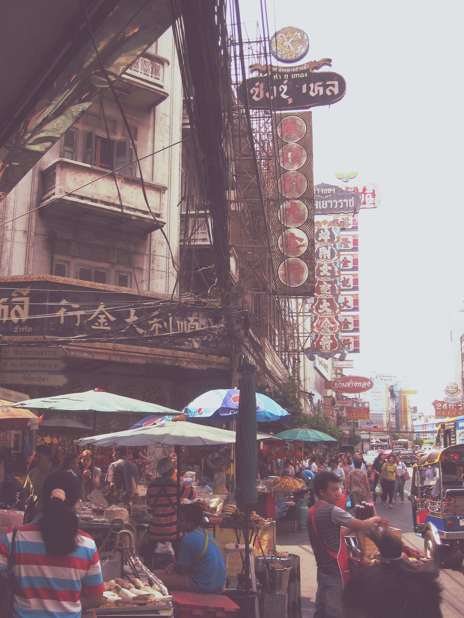 Bangkok chinatown street scene